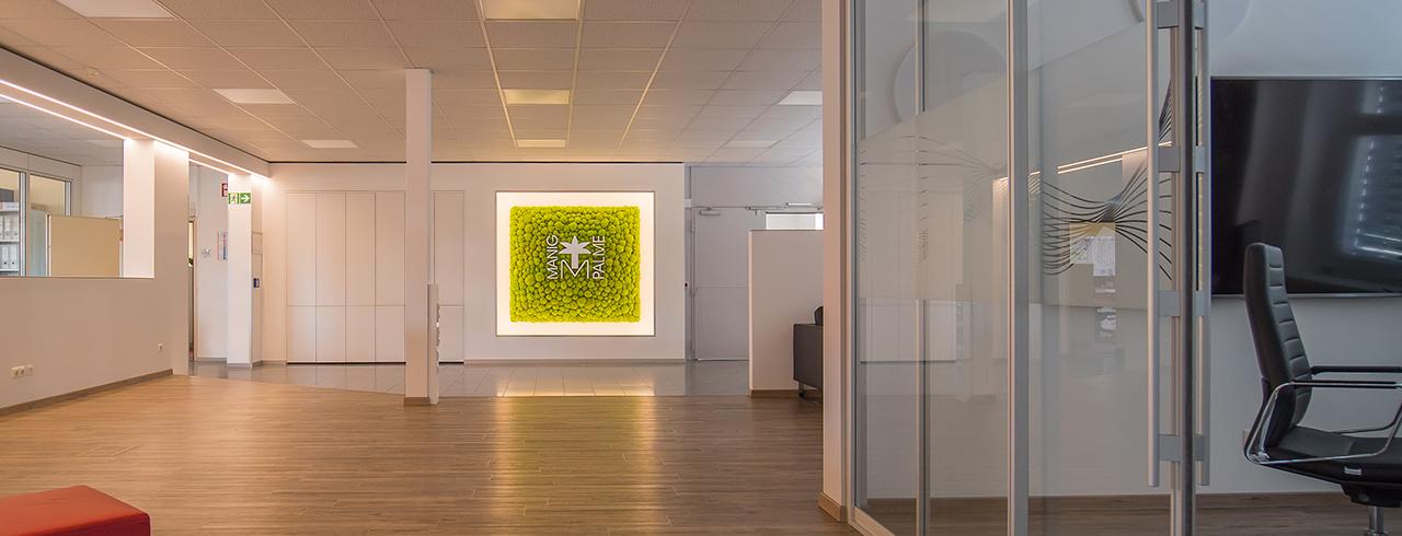 Büromöbel - Individuelle Raum- und Wandgestaltung mit Moos